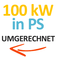 100 kW in PS umgerechnet