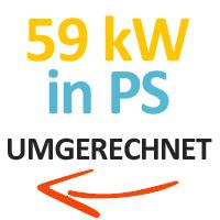 59 kW in PS umgerechnet