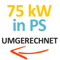 75 kW in PS umgerechnet