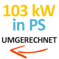 103 kW in PS umgerechnet