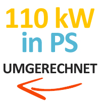 110 kW in PS umgerechnet