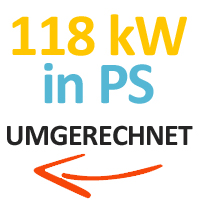 118 kW in PS umgerechnet