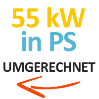 55 kW in PS umgerechnet